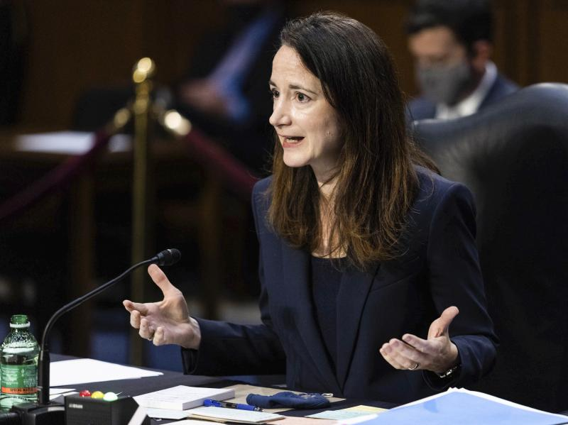 Director of National Intelligence Avril Haines testifies during a Senate Select Committee on Intelligence hearing about worldwide threats on Wednesday in Washington, D.C.