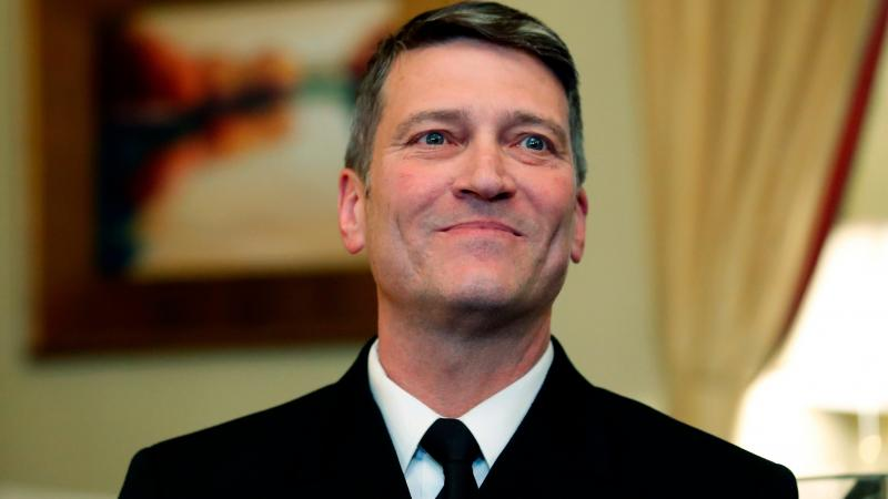 U.S. Navy Rear Adm. Ronny Jackson, M.D., before a meeting on Capitol Hill in Washington, D.C., earlier this month. Jackson, who abandoned his nomination to be secretary of Veterans Affairs amid numerous allegations, will not return to the job of President