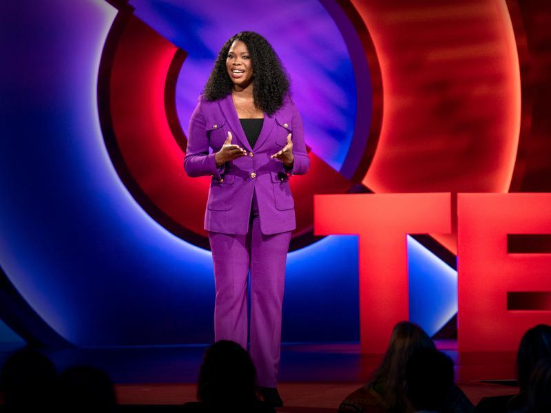 Jasmine Crowe speaks at TEDWomen 2019: Bold + Brilliant, D