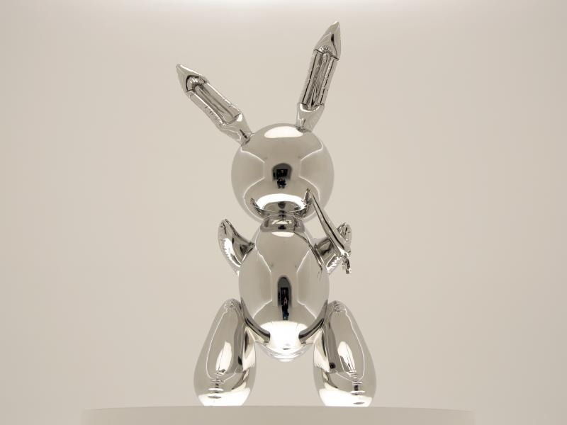 Rabbit by Jeff Koons was sold for more than $91 million at Christie's in New York on Wednesday night. It set a record for the most expensive work by a living artist to be sold at auction.