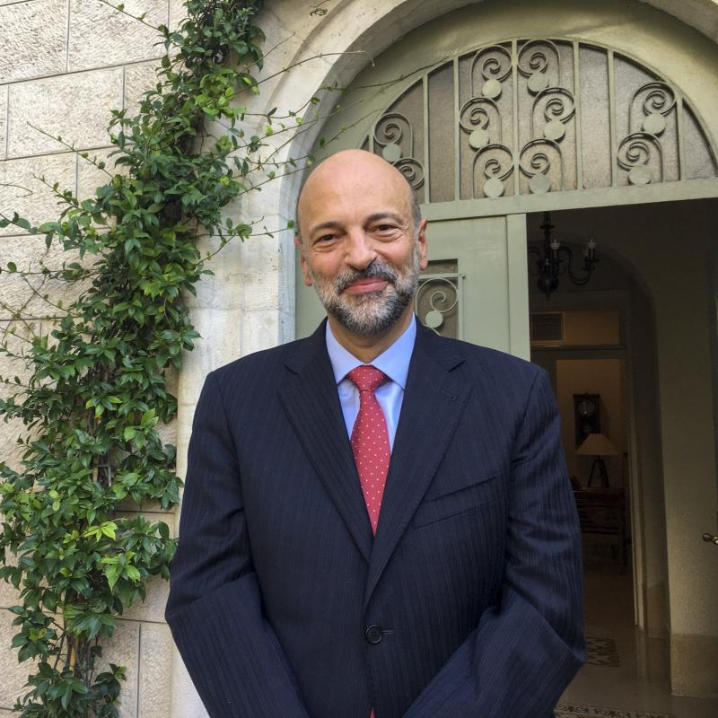 """""""From day one, any discussion of herd immunity or survival of the fittest or, you know, 'Say farewell to the elderly,' are the things that just did not sound right for us,"""" Jordan's Prime Minister Omar Razzaz tells NPR. """"So we went for a very different mo"""