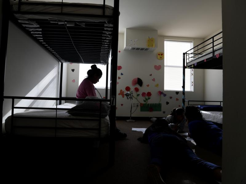 A holding center for migrant children in Carrizo Springs, Texas. A 16-year-old Honduran boy who entered the U.S. alone was scheduled to be deported Wednesday, but a federal judge has blocked his removal.