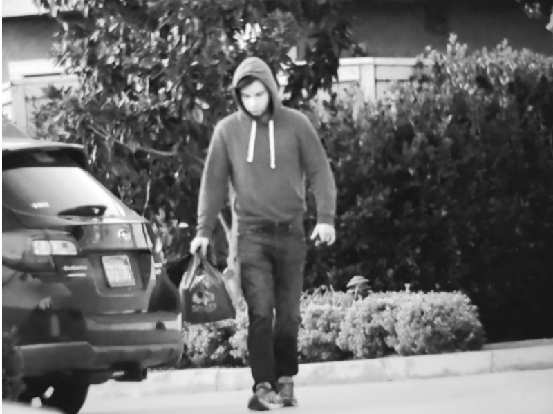 The FBI started investigating UCLA student Christian Secor in late January, after receiving tips about his alleged involvement in the U.S. Capitol riot. This surveillance photo of Secor is cited in the government's application for a search warrant.