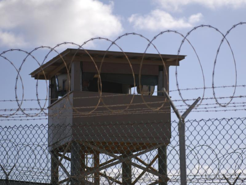 A tower overlooking Camp Delta at the Guantánamo Bay naval base in 2009.