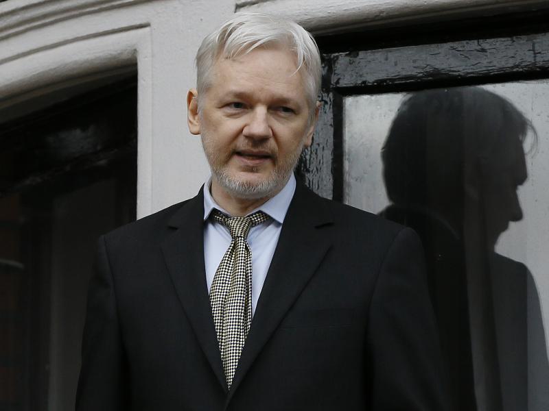 WikiLeaks founder Julian Assange, speaking here in 2016, is reportedly considering testifying before U.S. lawmakers.