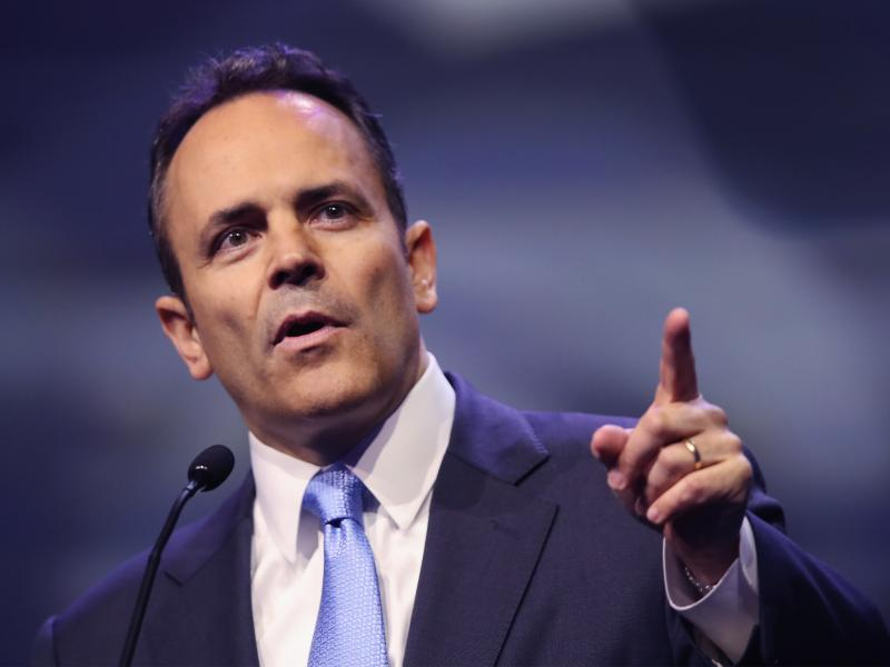 """Kentucky Gov. Matt Bevin, R-Ky., has said he thinks that Medicaid recipients should have """"skin in the game."""""""