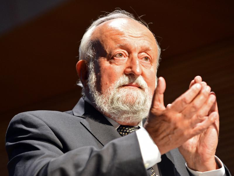 Polish composer Krzysztof Penderecki, at the opening of a music center named after him in southeastern Poland in 2013.