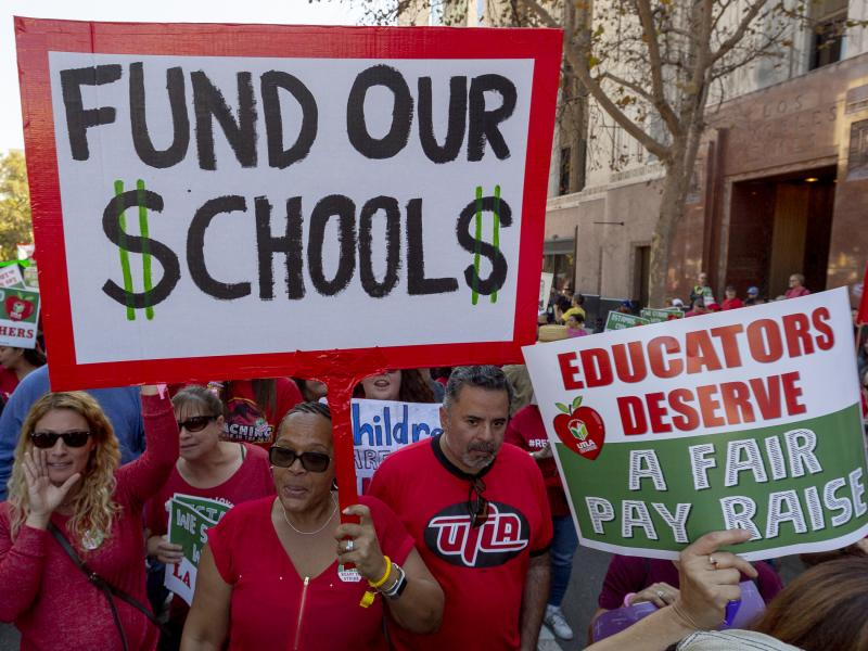 Teachers in the nation's second-largest school district will go on strike on Monday if there's no settlement of its long-running contract dispute.