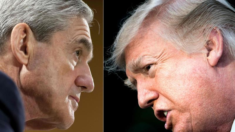 """Robert Mueller (left) """"gave the president a free pass effectively on the fact that he repeatedly committed obstruction of justice,"""" legal analyst Jeffrey Toobin says."""