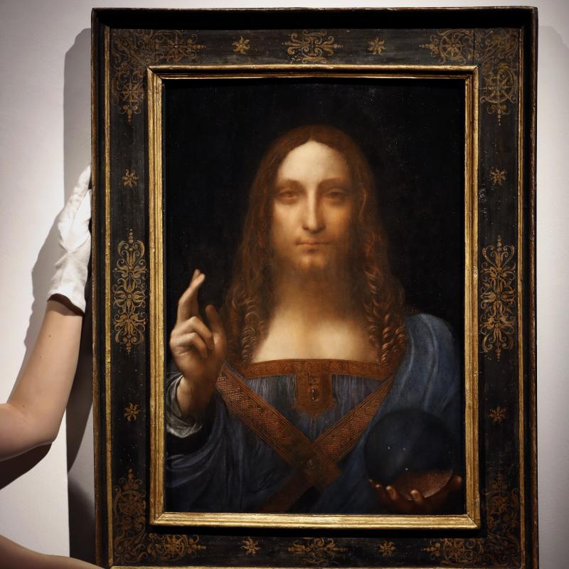 leonardo da vinci portrait of christ sells for record