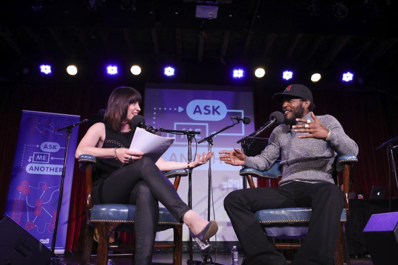 Ask Me Another host Ophira Eisenberg interviews Luke James at the Bell House in Brooklyn, New York.