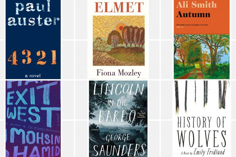 The 2017 Man Booker nominees are Paul Auster's 4 3 2 1, Fiona Mozley's Elmet, Ali Smith's Autumn, Emily Fridlund's History of Wolves, George Saunders' Lincoln in the Bardo, and Mohsin Hamid's Exit West.
