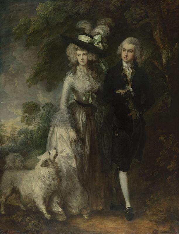 Thomas Gainsborough's 1785 painting Mr and Mrs William Hallett (The Morning Walk) was attacked at The National Gallery in London on Saturday.