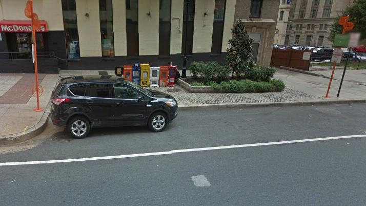 A dying art? Maryland has stopped testing new drivers for parallel parking. Here, a car is seen in Baltimore.