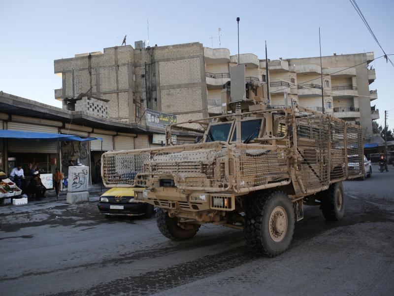 U.S. troops patrolling in Manbij, Syria, in April. More than 2,000 U.S. troops are on the ground there.