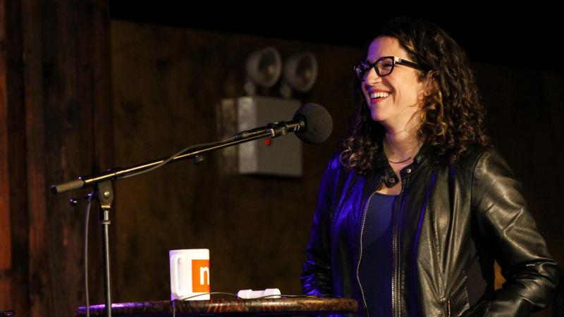 Amy Webb appears on NPR's Ask Me Another at The Bell House in Brooklyn, New York.