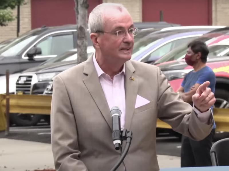 New Jersey Governor Phil Murphy called out demonstrators protesting mandatory COVID-19 vaccinations during an event in Union City this week.