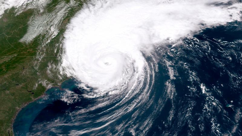 """There is an 85% chance of 2020 being an """"above-normal"""" hurricane season, the National Oceanic and Atmospheric Administration said on Thursday. Here, a NOAA GOES-East satellite image shows last year's Hurricane Dorian, which made landfall on North Carolina"""