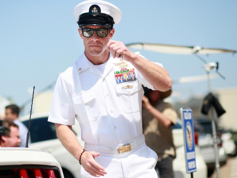 Navy SEAL Special Operations Chief Edward Gallagher during a recess in his trial this summer in San Diego, Calif.