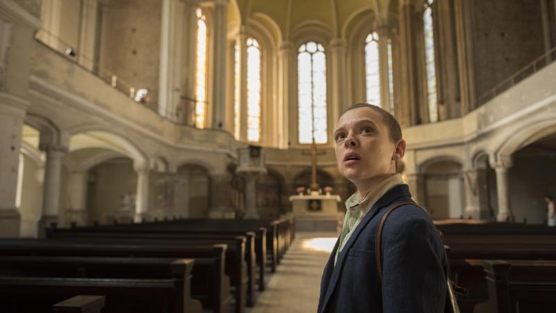Israeli actress Shira Haas plays Esther, a young woman who flees her marriage and her tight Hasidic community in the Netflix series Unorthodox.