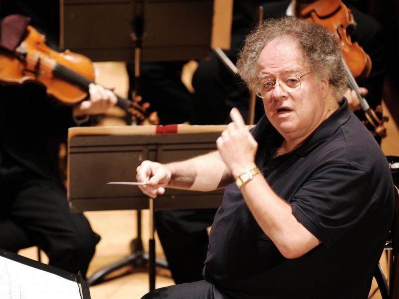 Conductor James Levine, rehearsing with the Boston Symphony Orchestra in Paris in September 2007.