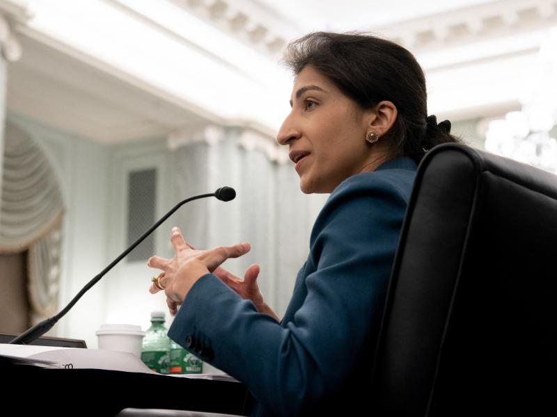 Federal Trade Commission chair Lina Khan is one of the most prominent progressive voices calling for more aggressive curbs on the dominance of big companies.
