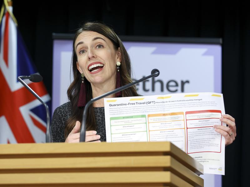 Prime Minister Jacinda Ardern announced that quarantine-free travel between New Zealand and Australia will start on April 19.