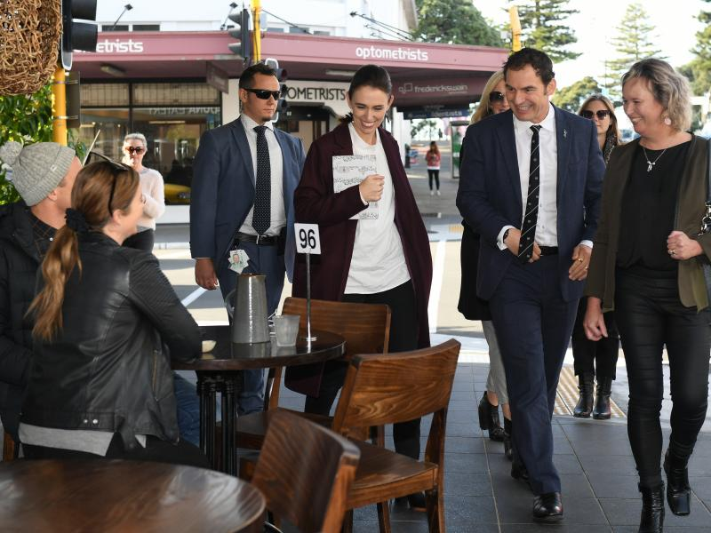 New Zealand is now allowing gatherings of up to 100 people, and the country says it has just one active COVID-19 case. Much of the credit for the country's success has gone to Prime Minister Jacinda Ardern, seen here walking through the coastal city of Na