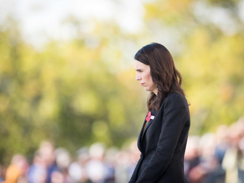 New Zealand Prime Minister Jacinda Ardern is calling on governments and tech companies to do more to prevent livestreaming of terrorist attacks and the spread of such videos online. Ardern is seen here laying a wreath at the Auckland War Memorial Museum i