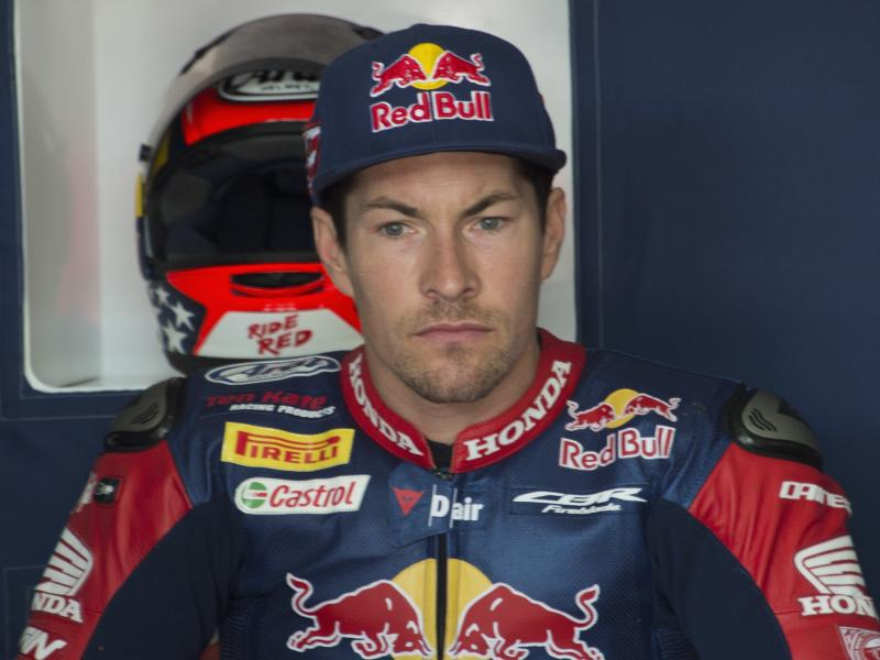Motorcycle champion Nicky Hayden on May 12 in Misano Adriatico, Italy. Hayden died Monday after being hit by a car while bicycling.