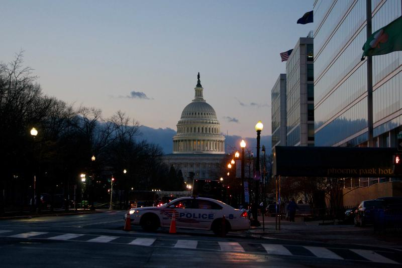 Inauguration Day has been quiet so far in Washington, D.C. Some 25,000 National Guard members are in the city, where insurrectionists stormed the U.S. Capitol just two weeks ago.