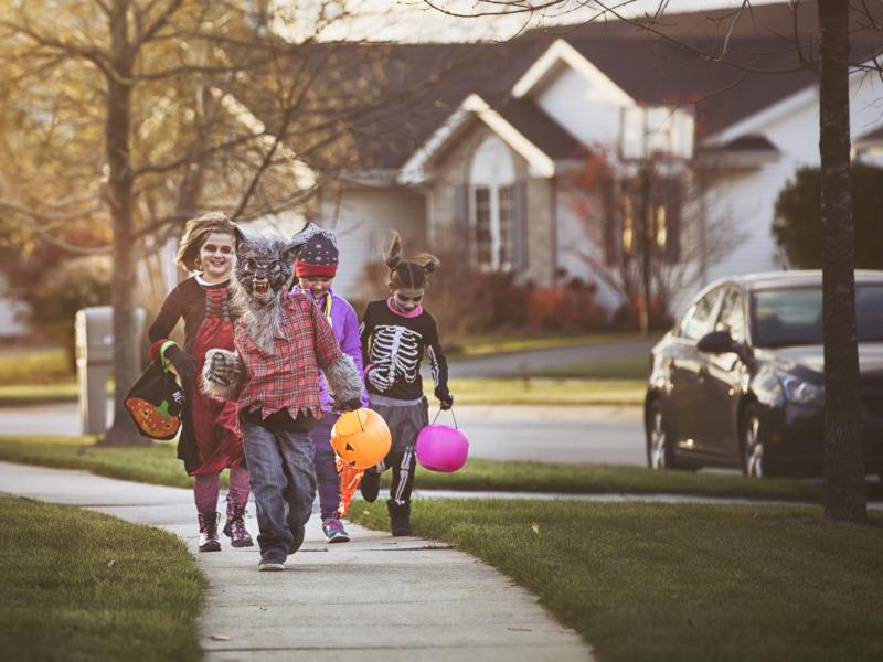 Halloween is one more thing being upended by the pandemic. Federal guidelines advise against traditional trick or treating, but parents across the country are trying to make the holiday special for their children anyway.