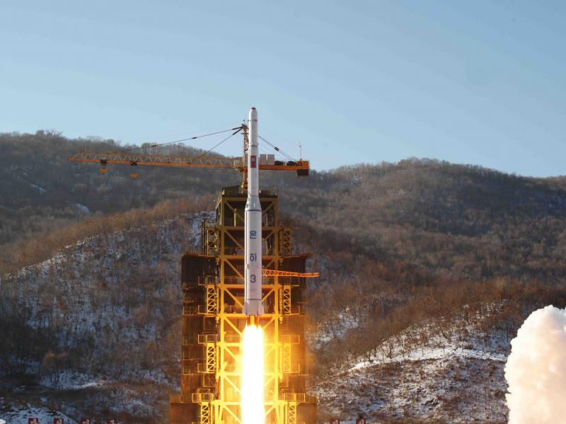 North Korea's Unha-3 rocket lifts off from the Sohae launchpad in Dongchang-ri, North Korea, in this Dec. 12, 2012, photo released by the Korean Central News Agency.