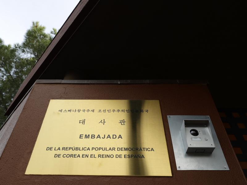 A break-in occurred at the North Korean Embassy in Madrid on Feb. 22, Spanish authorities say. A judge now says the assailants flew via Portugal to the U.S.