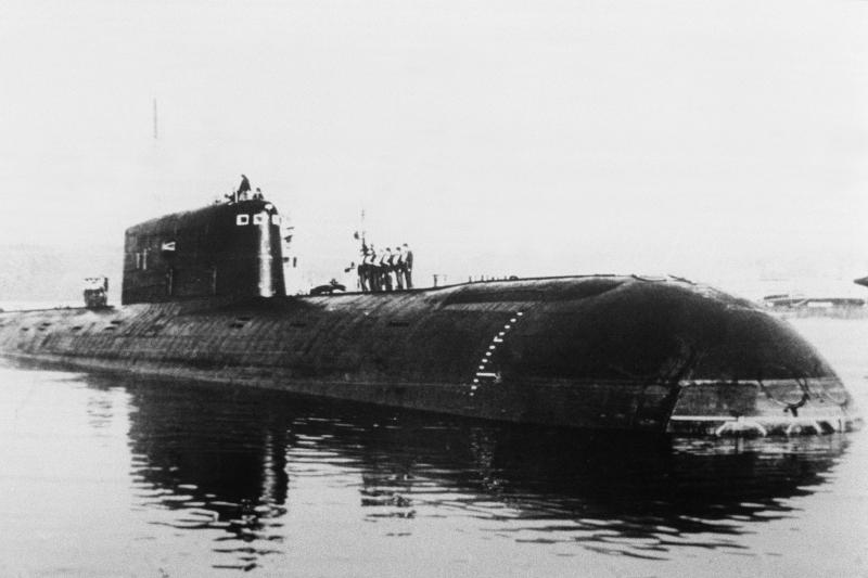 """An undated picture taken in St. Petersburg of the""""Komsomolets"""" before it sank."""