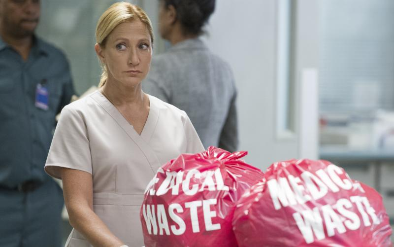 "Edie Falco stars in Showtime's ""Nurse Jackie."""