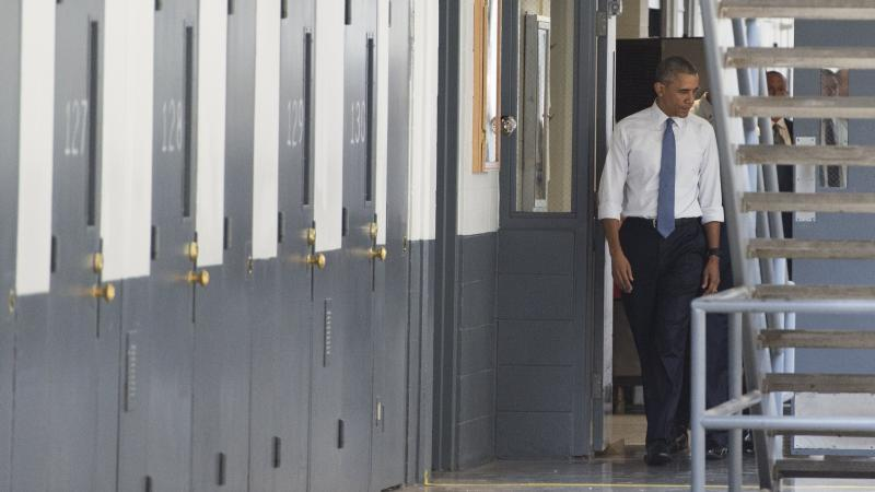 President Obama toured the El Reno Federal Correctional Institution in Oklahoma on Thursday and met with six inmates.
