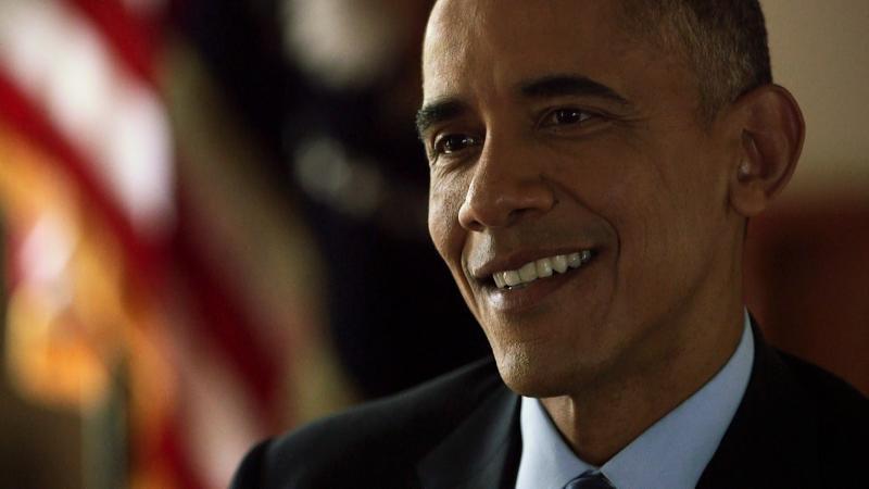 NPR's Steve Inskeep interviews President Obama at the White House on Thursday.