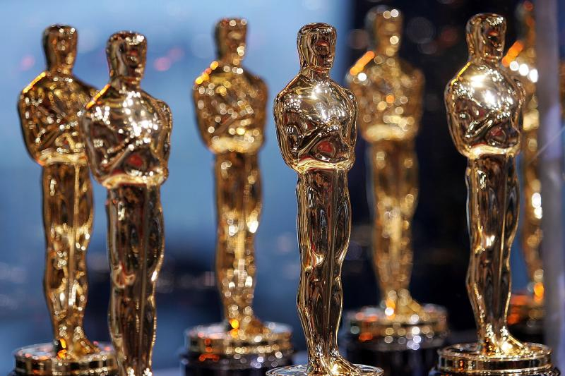 """Oscar statues are displayed at the 2007 """"Meet the Oscars"""" event on February 12, 2007 in New York City."""