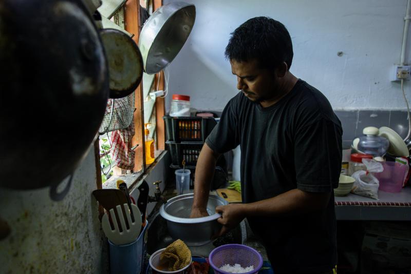 TKTK prepares dinner TKTK