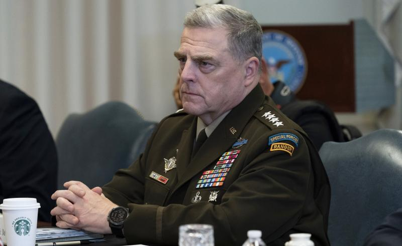 Army Gen. Mark Milley, the chairman of the Joint Chiefs of Staff, is among several top military officials who are quarantining at home. They attended meetings last week with Adm. Charles Ray, the vice commandant of the Coast Guard, who has tested positive