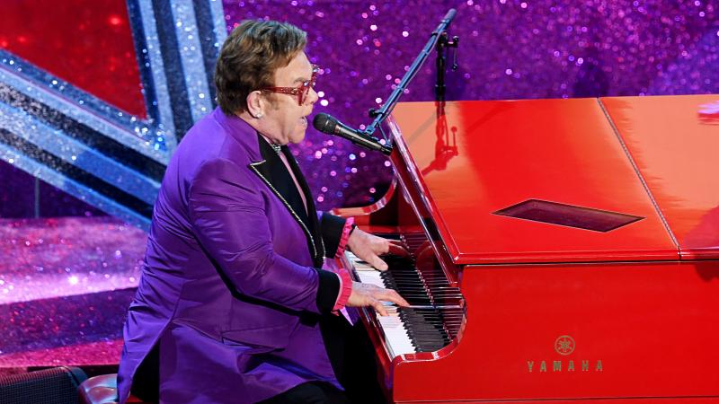 """Elton John performs at the Academy Awards on Feb. 9 in Los Angeles. He had to end a show in New Zealand early. He told his fans: """"I gave it all I had."""""""