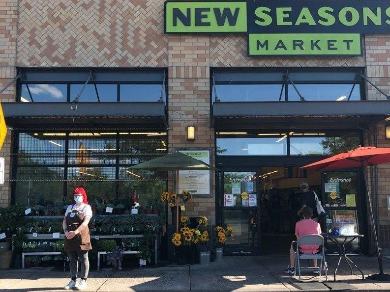 Tekiah Elzey is using Coworker.org to petition for hazard pay to be restored at the New Seasons Market where she works in Portland, Ore.