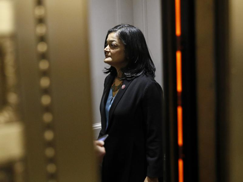 """""""You know, it's like a gut punch to millions of people,"""" Washington Rep. Pramila Jayapal, who chairs the House Progressive Caucus, said about the $15-an-hour minimum wage coming out of President Biden's COVID-19 relief package. But she says her vote will"""