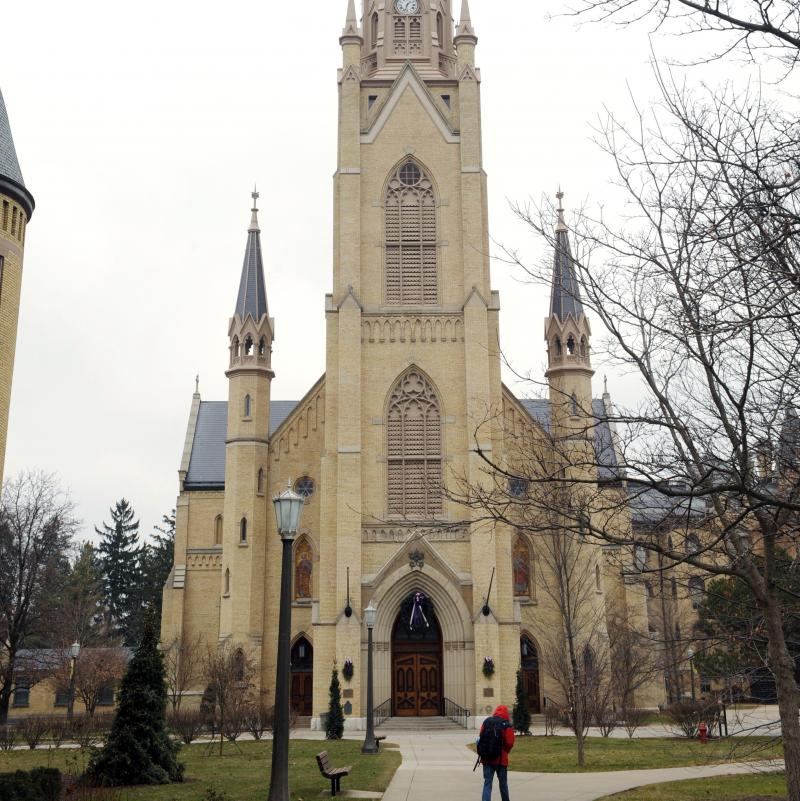 The Basilica of the Sacred Heart on the campus of the University of Notre Dame in South Bend, Ind.