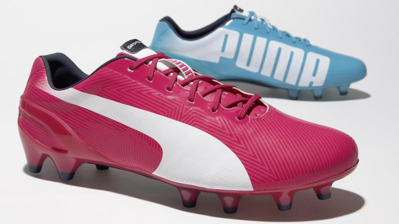 """""""Right is pink, left is blue"""" is the new slogan for Puma's line of mismatched cleats. The Tricks are featured at this year's World Cup."""