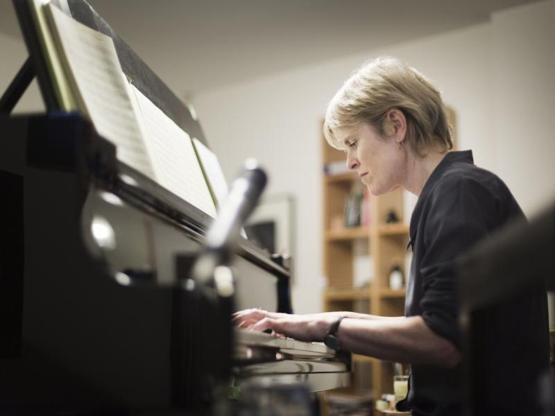 Rachel Portman was the first woman to win an Academy Award for best original score. Her latest album ask the river is her first not written for a film or stage production.