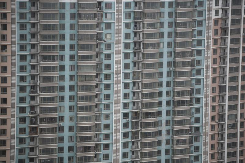 A residential building in Dandong, a city near China's northeast border with North Korea. Local authorities have tried to curb speculation in the property market.