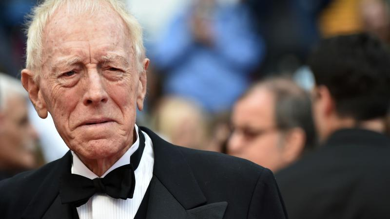 Max von Sydow's deep voice and stern aspect often led to him being cast in severe roles. He's pictured here at the 2016 Cannes Film Festival.