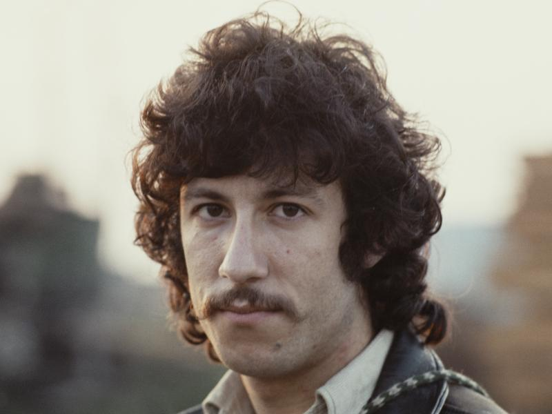 A portrait of Peter Green, guitarist and co-founder of rock band Fleetwood Mac, c. 1968.